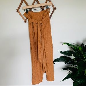 Ettitwa by Anthropologie camel paper bag tie pant